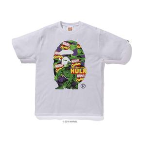 BAPE 漫威联名 绿巨人大猿人头T恤 日本制