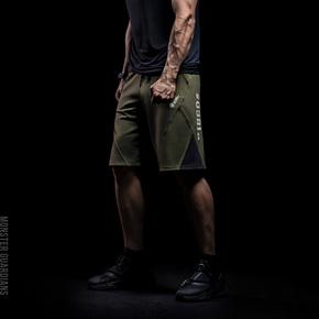 限时满赠!Monster Guardians  Warrior系列 男子拼接运动短裤 AWM05