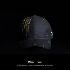 Monster Guardians MSGD品牌定制健身潮帽黑色棒球帽 PWM12