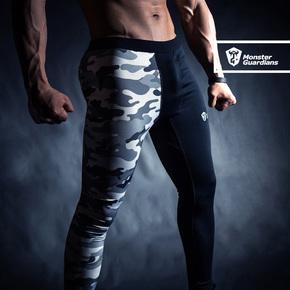 Monster Guardians MG终极科技系列男子健身训练迷彩紧身裤压缩裤 终极科技系列 (21)251630 A98006