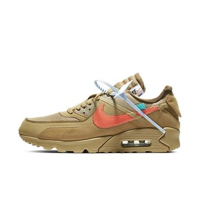 香港倉秒殺!NIKE x OFF-WHITE AIR MAX 90 OW 聯名  黑白 沙漠黃 AA7293-200-001