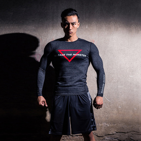 Monster Guardians MG终极科技系列运动潮牌健身长袖压缩衣紧身衣 终极科技系列 (21)251530 A08002