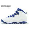 雷恩体育 AIR Jordan X 10 Retro GS AJ10 乔10 白蓝 487215-107