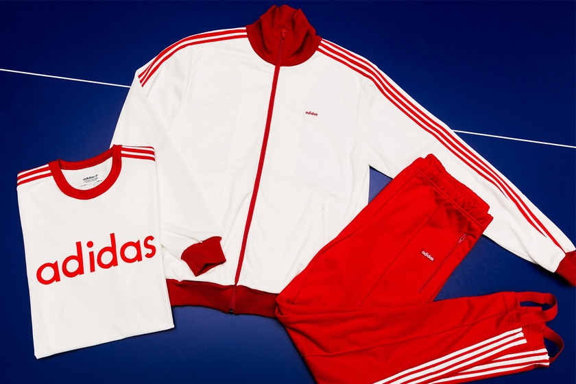adidas推出经典三条杠运动套装