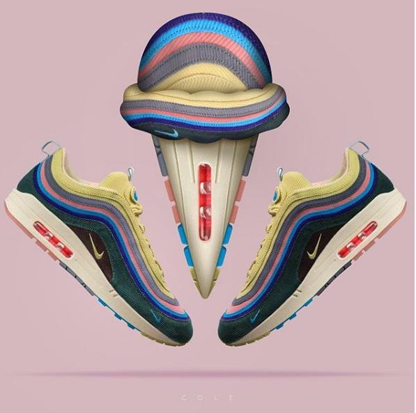 跑步 市场动态  创意设计师@cole又为大家带来了一组脑洞大开的球鞋创