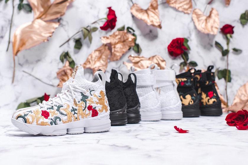 布满鞋面的象征欧洲皇室的鸢尾花花纹,或以纯色暗纹呈现,或以华丽显眼