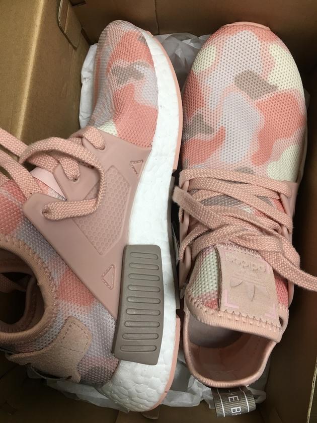 Adidas nmd xr1迷彩粉