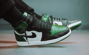 春季来点小清新,AJ1黑绿脚趾怎么样?