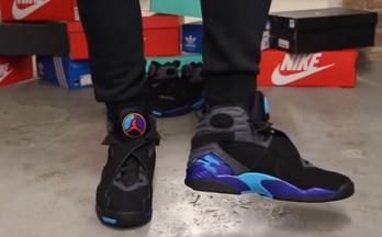 Air Jordan 8 Retro 'Aqua' 上脚赏析