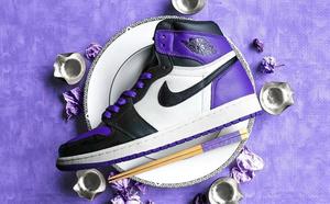 球鞋开箱60秒——AJ1 黑紫脚趾