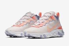 "又一款女神配色!全新 Nike React Element 55 ""Pale Pink"" 即将登场"